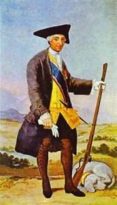 Charles III in hunting costume