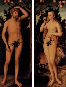 Adam and Eve by Lucas Cranach