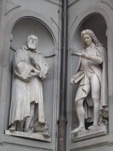 Sculpture in front of Uffizi-Galileo&Micheli