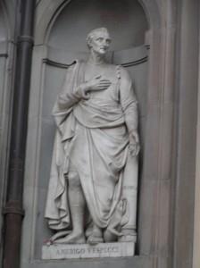 Sculpture in front of Uffizi-Vespucci