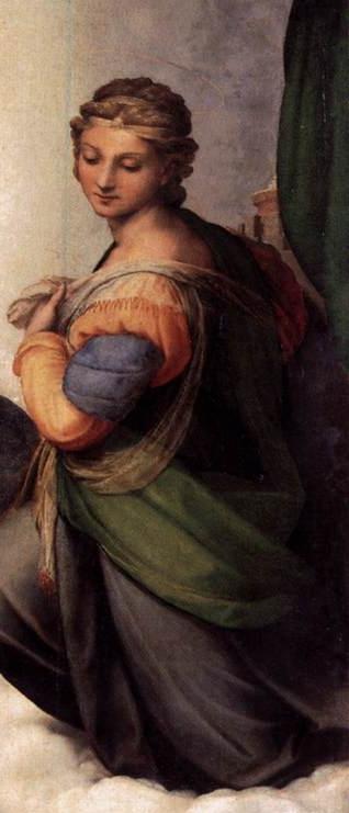 Sistine Madonna detail2Sistine Madonna Detail
