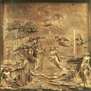 Creation of Adam and Eve by Lorenzo Ghiberti