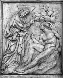 Creation of Adam from Istrian Stone by Jacopo della Quercia